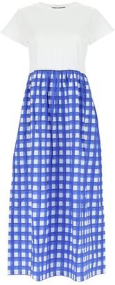 Max Mara Check Print Dress