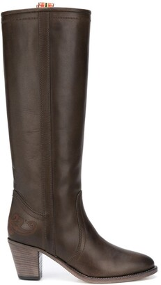 Etro Slip-On Calf Leather Boots