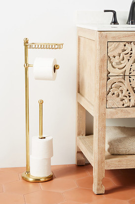 Anthropologie Maison Toilet Paper Holder and Tray By in Brown