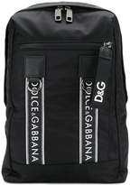 Dolce & Gabbana logo strap detailed backpack