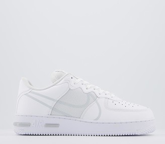 Nike Force 1 React Trainers White Pure Platinum