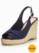 Very Dandelion Knotted Front Wedge - Navy