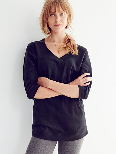 Victoria's Secret Fleece V-neck Tunic