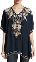 Johnny Was Egypt Embroidered Eyelet Poncho, Petite