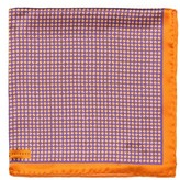 Robert Talbott Men's Dot Silk Pocket Square