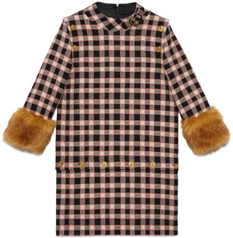 Gucci Tweed dress with detachable elements