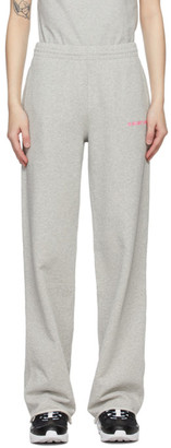 Helmut Lang Grey Wide-Leg Lounge Pants