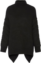 Alexander Wang Convertible textured-wool turtleneck sweater