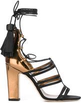 Jimmy Choo Diamond 100 sandals - women - Silk/Leather/Patent Leather - 36
