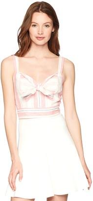 Parker Women's Opal Sleeveless Striped Linen Crop Top