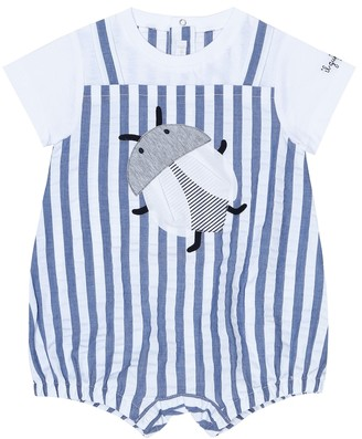 Il Gufo Baby striped cotton playsuit