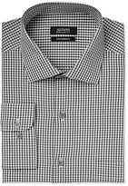 Alfani Men's Classic-Fit Performance Black Small Gingham Dress Shirt, Only at Macy's