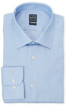 Ike Behar Blue Dobby Regular Fit Dress Shirt