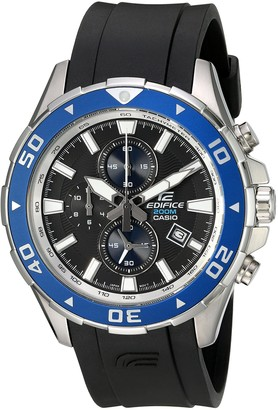 Casio Men's EFM-501-1A2VCF Edifice Analog Display Quartz Black Watch