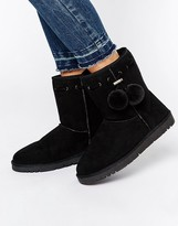 Head Over Heels By Dune Rozz Pom Pom Cosy Flat Boots