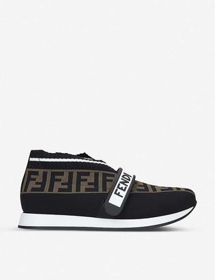 Fendi Love FF-logo low-top sneakers 7-10 years
