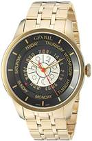 Gevril Men's 2007B Columbus Circle Analog Display Automatic Self Wind Gold Watch