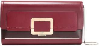 Roger Vivier U-look Glossed-leather Clutch