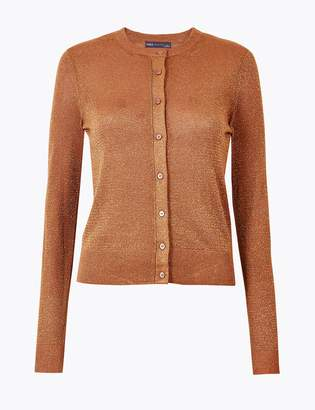 M&S CollectionMarks and Spencer Glitter Round Neck Cardigan