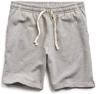 Todd Snyder + Champion Terry Warm Up Short in Light Grey Mix
