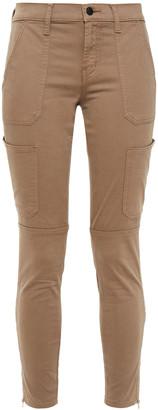 J Brand Utility Cropped Cotton-blend Twill Skinny Pants
