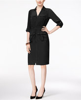 Alfani Petite Zip-Front A-Line Shirtdress, Only at Macy's