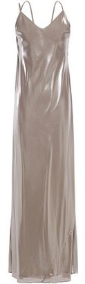 Mason by Michelle Mason Cutout Draped Lame Gown