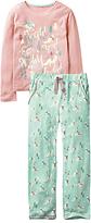 Fat Face Children's Arctic Fox Pyjamas, Aqua/Pink