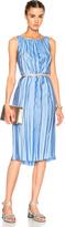 Nina Ricci Fluid Twill Melange Dress
