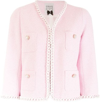 Edward Achour Paris Embellished Tweed Jacket