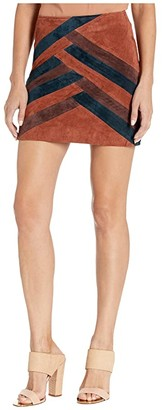 Blank NYC Color Block Suede Mini Skirt (Walk The Line) Women's Skirt