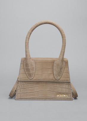 Jacquemus Le Grand Chiquito Mock-Croc Top Handle Bag
