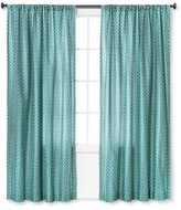 "Mudhut Kamala Geo Curtain Panel - Blue (55""x84"")"