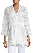Lilly Pulitzer Carolyn Oyster Shell Lace Kimono