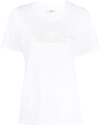 Odeeh slogan embroidered T-shirt