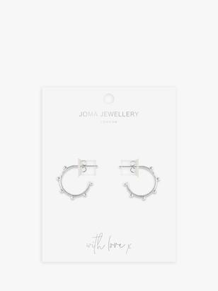 Joma Jewellery Beaded Hoop Earrings, Silver