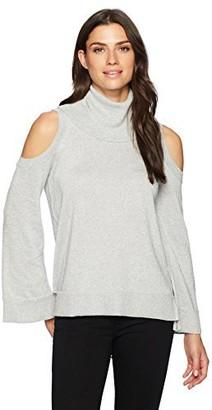 Chaus Women's L/s Cold Shoulder Turtleneck Sweater