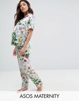 Asos Floral Shirt & Pajama Set