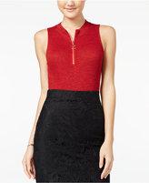 Material Girl Juniors' Front-Zip Bodysuit, Only at Macy's