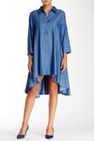 Gracia Hi-Lo Denim Shirt Dress
