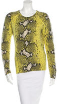 Equipment Cashmere Python Print Sweater