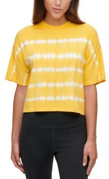 Calvin Klein Tie-Dyed Mock-Neck Top