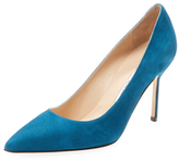 Manolo Blahnik BB 90 Suede Pointed-Toe Pump