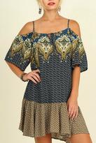 Umgee USA Blue Boho Dress