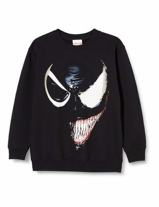 Marvel Boy's Universe Venom Split Face Sweatshirt