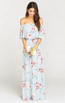 MUMU Hacienda Maxi Dress ~ Flower Hour Sky