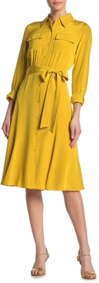 Diane von Furstenberg Antoinette Silk Button Down Shirt Dress