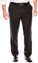 Jf J.Ferrar Black Nailhead Flat-Front Suit Pants - Big & Tall