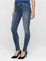 Calvin Klein Womens Super Skinny Mid Blue Vintage Jeans