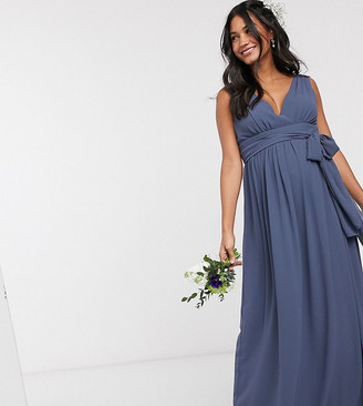 TFNC Bridesmaid Maternity top wrap chiffon dress